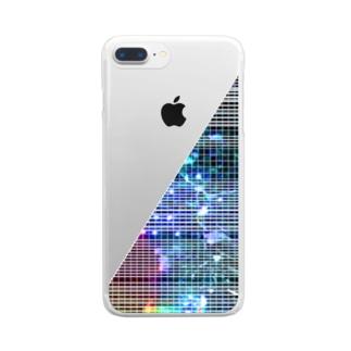 線入り直角三角形 Clear smartphone cases