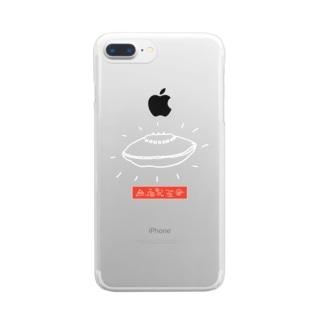 UFO おっぱい星人 Clear smartphone cases
