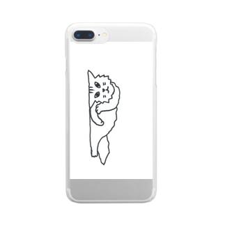 仰臥猫 Clear smartphone cases