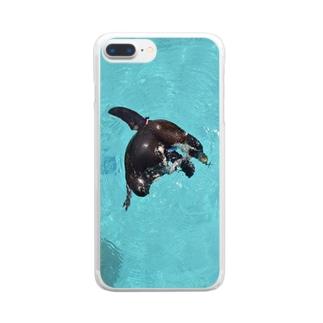 ペンギンチャン Clear smartphone cases