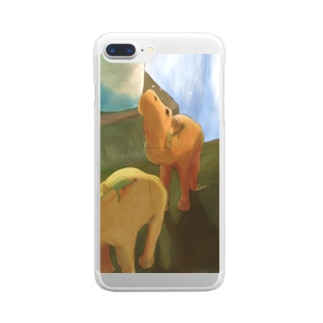 どこかへ。 Clear smartphone cases