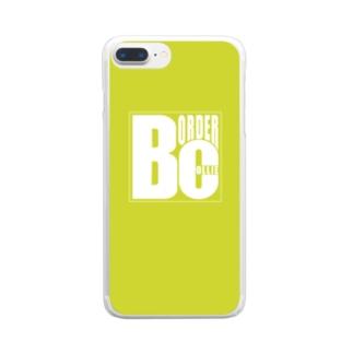 ボーダーコリーロゴ Clear smartphone cases