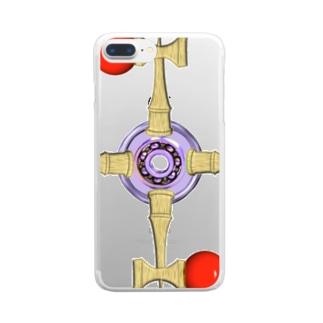 剣玉スピナー Clear smartphone cases