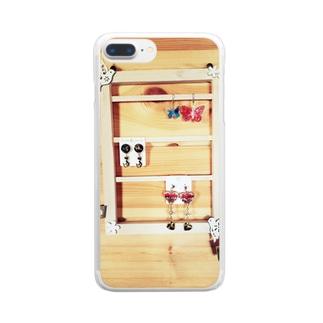 アクセサリーホルダー Clear smartphone cases