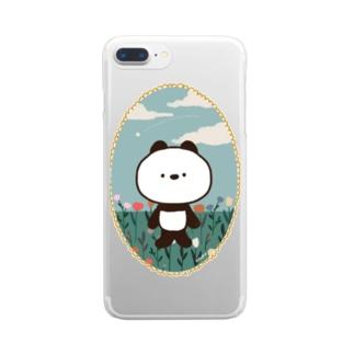 パンダのWICKY Clear smartphone cases