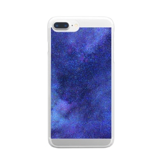 Galaxy Blue Clear smartphone cases