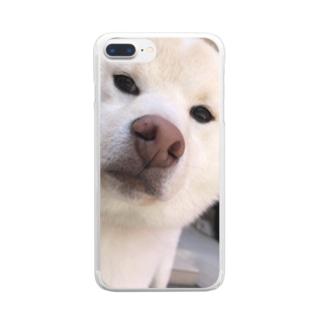 ふい顔のらんまるくん Clear smartphone cases