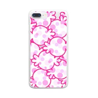 ほぼピンクキャンディー Clear smartphone cases