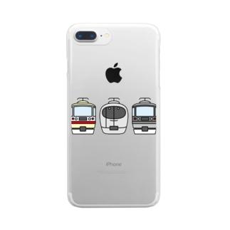 西武線特急3兄弟 Clear smartphone cases