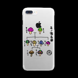 LUVHOLICのほぼキノ家系図 Clear smartphone cases