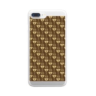 楽だべあ Clear smartphone cases