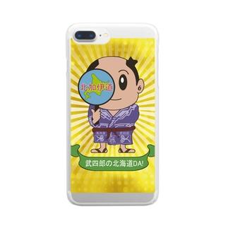 SUZURIKEITAIの松浦武四郎のパワー Clear smartphone cases