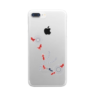 金魚01 Clear smartphone cases