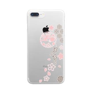 枝垂れ桜 Clear smartphone cases