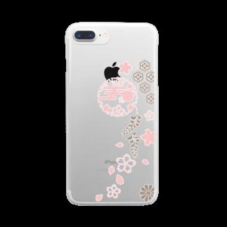 ジャパニーズスタンダードの枝垂れ桜 Clear smartphone cases