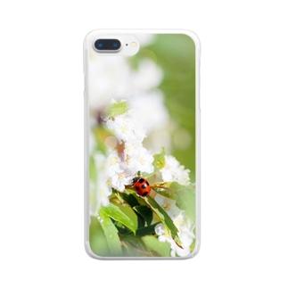 てんとう虫とコデマリ Clear smartphone cases