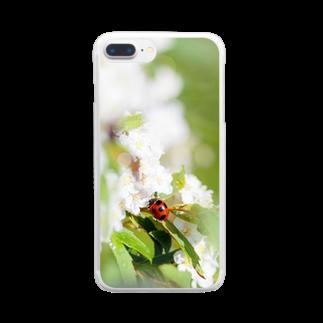 akane_artのてんとう虫とコデマリ Clear smartphone cases