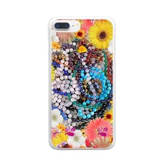 綺麗な花と素敵なジュエリーたちの競演01 Clear smartphone cases