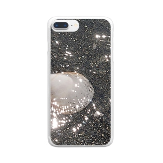 海と貝と Clear smartphone cases