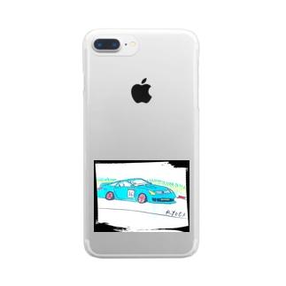 Ryotaのオリジナルレーシングカー36 Clear smartphone cases