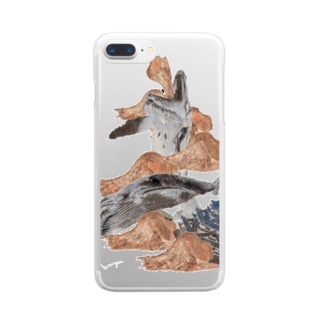 『土成流、吠える』Inverted Clear smartphone cases