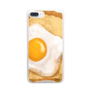 目玉焼きトースト Clear smartphone cases
