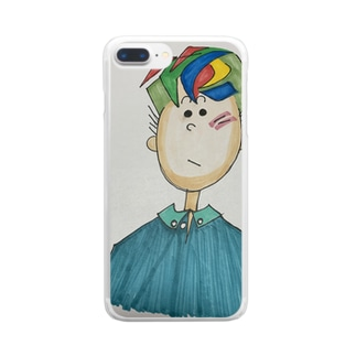 からふりーくん Clear smartphone cases