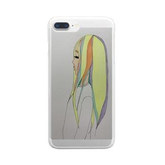 泣き虫女の子 Clear smartphone cases