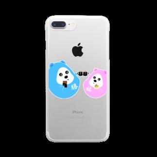 Y Galleryのだるくまカップルの日常 Clear smartphone cases