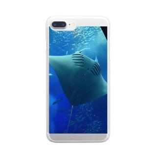 マンタ Clear smartphone cases