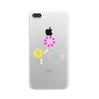 花火とかえるさん Clear smartphone cases