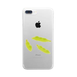 えだまめ Clear smartphone cases