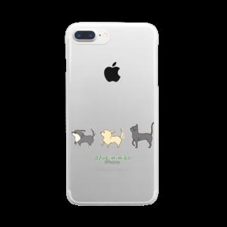 あずき みみこ(フリーなイラストレーター)のあずきん家 Clear smartphone cases