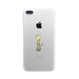ぽんこつきりん Clear smartphone cases
