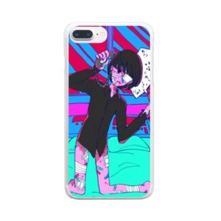 ラブコール Clear smartphone cases