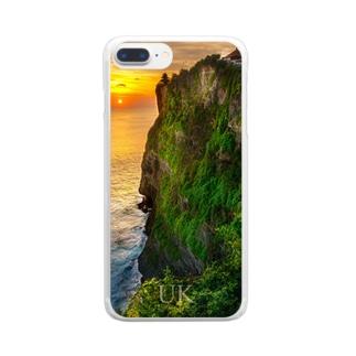 夕刻の断崖 -UKロゴあり- Clear smartphone cases