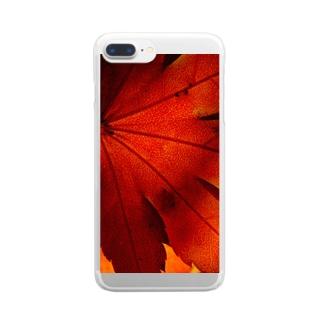 紅葉一色 -UKロゴなし- Clear smartphone cases
