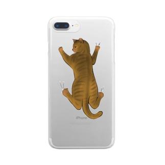 はなれないにゃん Clear smartphone cases