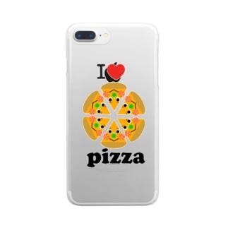 アイラブ☆ピザ Clear Smartphone Case