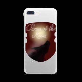 タマのちょびりげ❣️のPower of the moon Clear smartphone cases