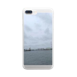 つぶやく Clear smartphone cases