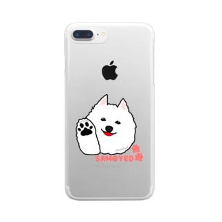 モフハチロウ Hi! Clear smartphone cases