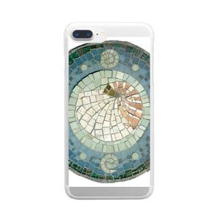 モザイクアート*オウム貝 Clear smartphone cases