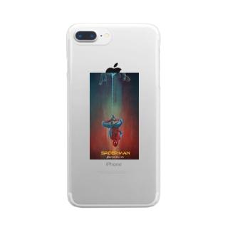 スパイダーマン Clear smartphone cases