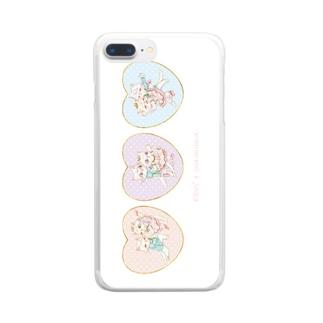 子猫のパ・ド・ドゥ Clear smartphone cases