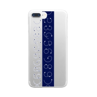 12345678910_navy Clear smartphone cases