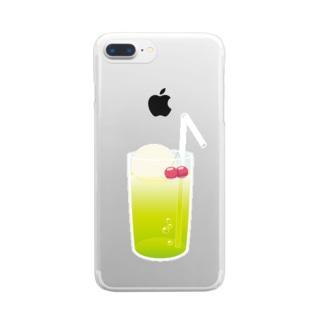 メロンソーダ Clear smartphone cases