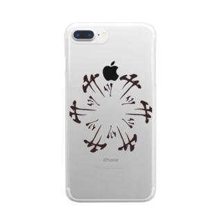 円サッサッサ Clear smartphone cases