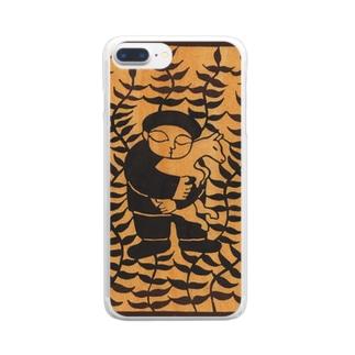 山羊と少年 Clear smartphone cases