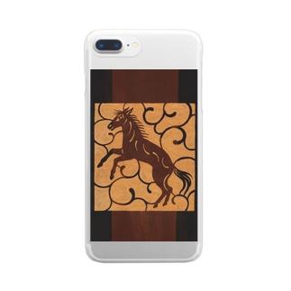 馬 Clear smartphone cases